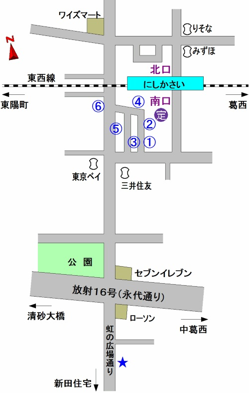 西葛西駅 バス乗り場