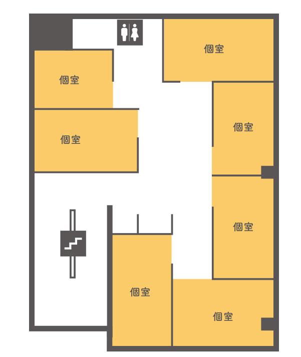 3階個室レンタルオフィス間取り