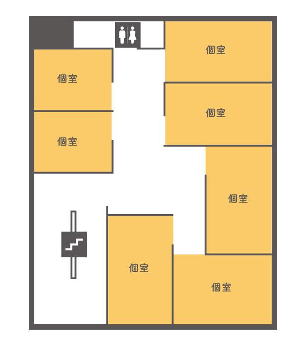 4階個室レンタルオフィス間取り